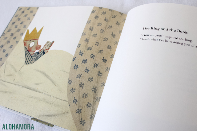 The King and the Sea by Jeinz Janisch is full of 21 very short stories about a King. In my book review this book gets 2 out of 5 stars.  Picture book Alohamora Open a Book http://alohamoraopenabook.blogspot.com/