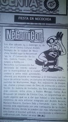 necomicon 99 convencion de comics de necochea en comiqueando