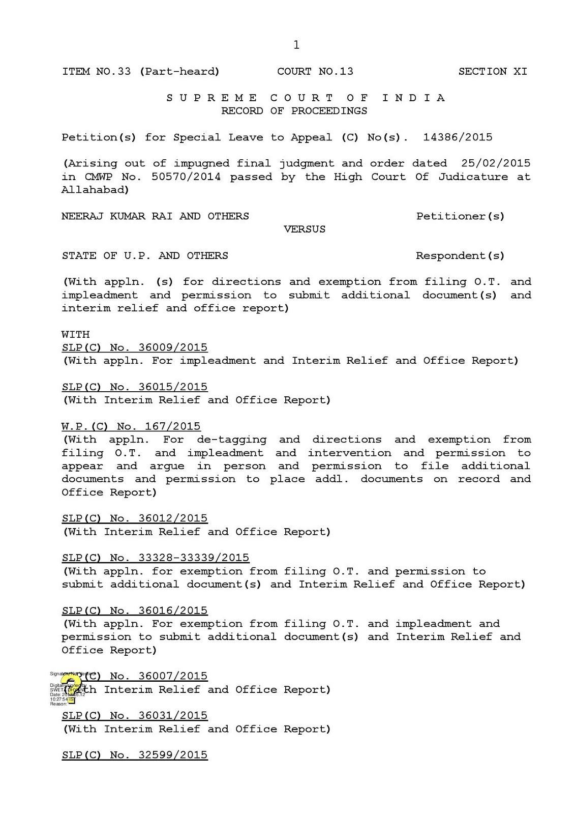 9 मई को हुई शिक्षामित्र प्रकरण की सुनवाई का आर्डर आया, 17 मई को 1 घंटा होगी बहस: फिर निर्णय या रिज़र्व: देखें 9 मई का 24 पेज का आर्डर