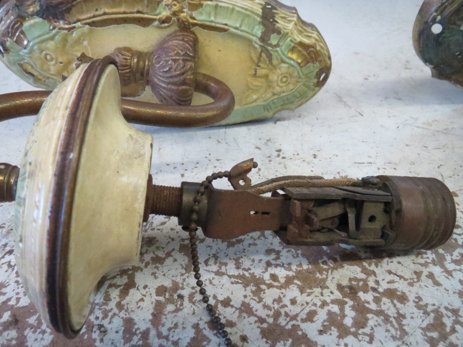 Lamp Parts and Repair | Lamp Doctor: Repaired Antique Wall ... on Wall Sconce Parts id=24796