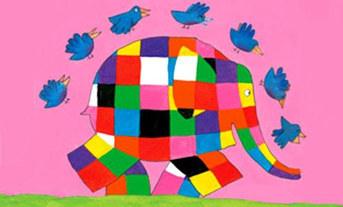 Elmer Elefantino Variopinto Teste Fiorite Libri Per Bambini