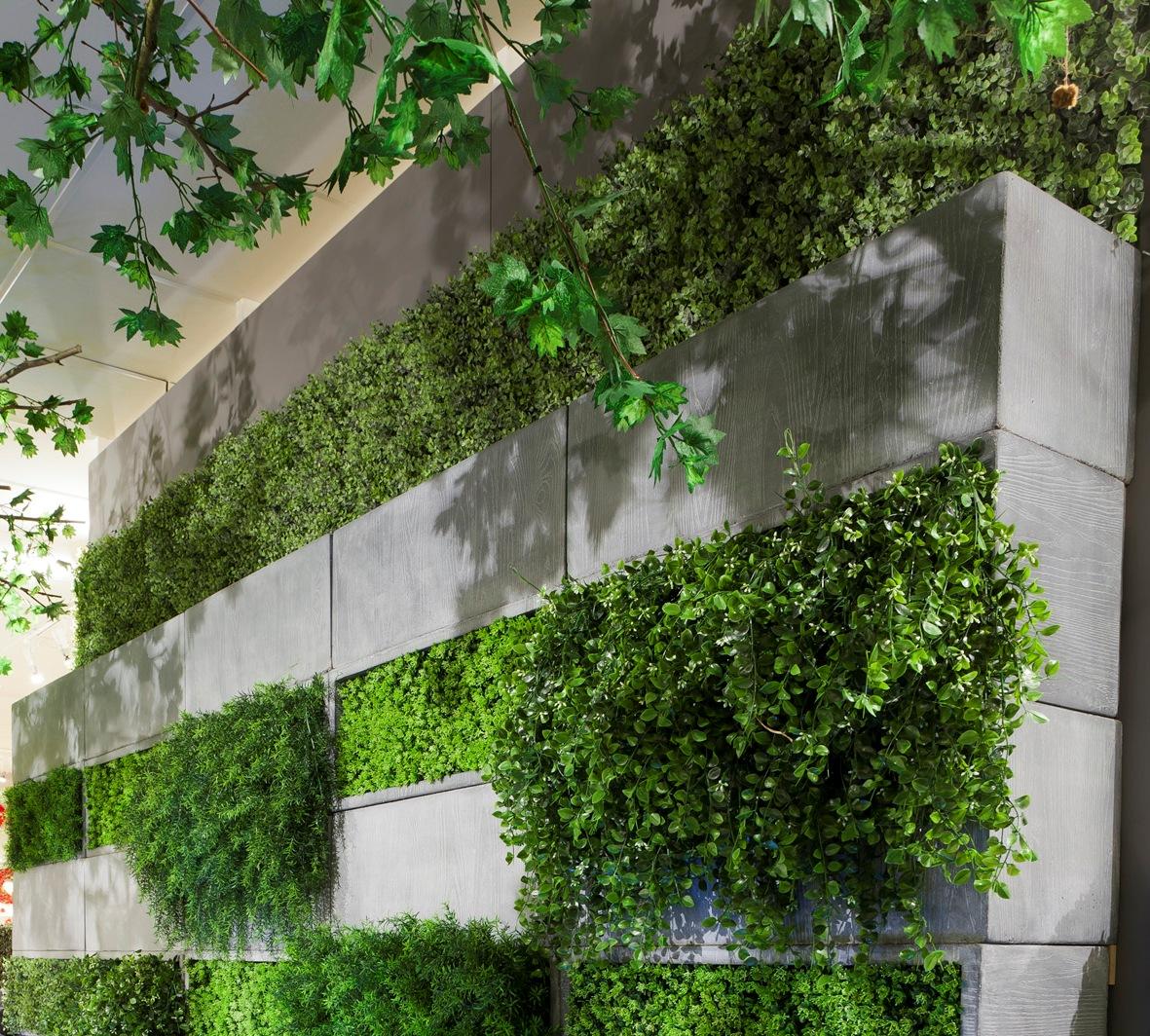Un jard n vertical artificial - Jardin vertical interior ...