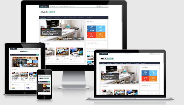 Magazine Responsive Template Blogger - Magnews v1.1 Premium