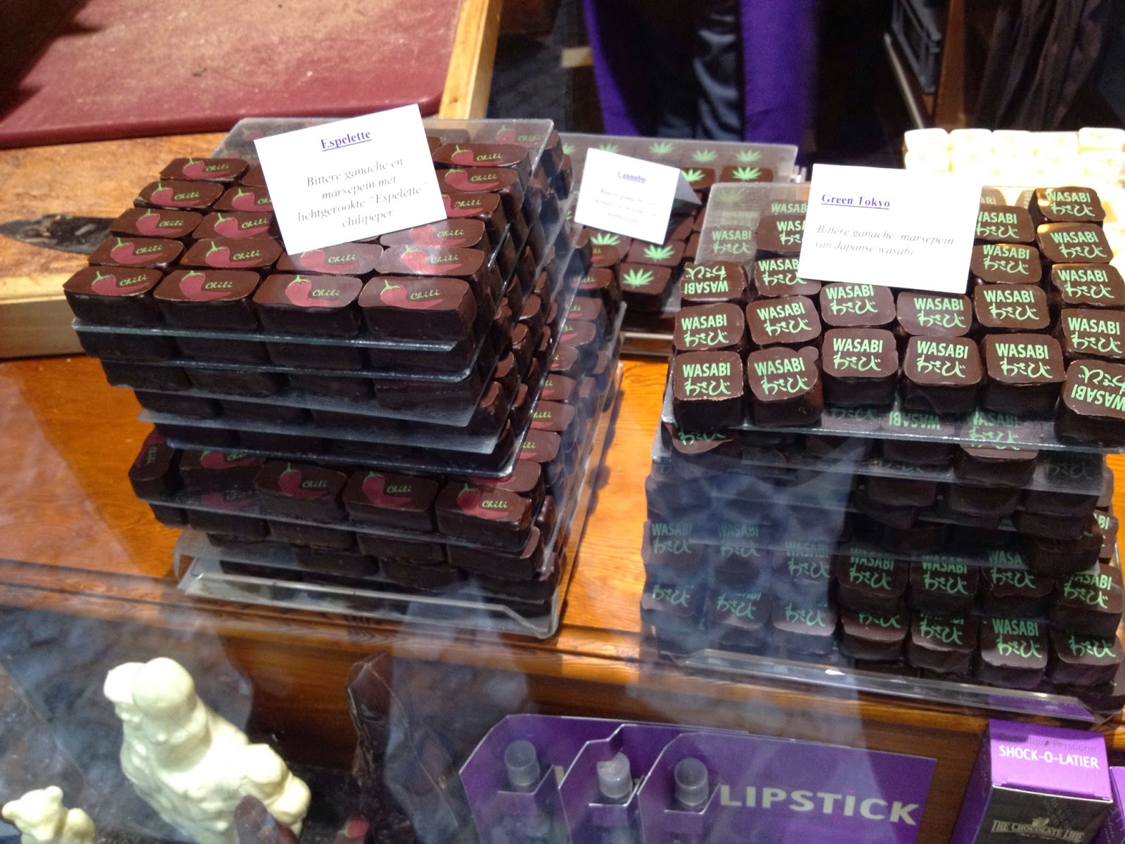 Bruges - Interesting flavors at The Chocolate Line