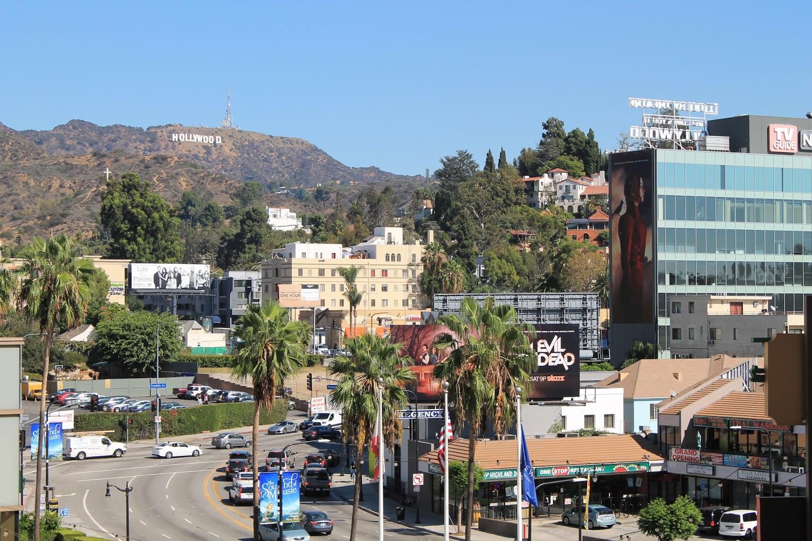 USA états unis amérique vacance transat roadtrip ouest américain hollywood boulevard lettre lettres colline