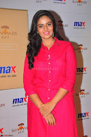 Sree Mukhi in Pink Kurti looks beautiful at Meet and Greet Session at Max Store (72).JPG