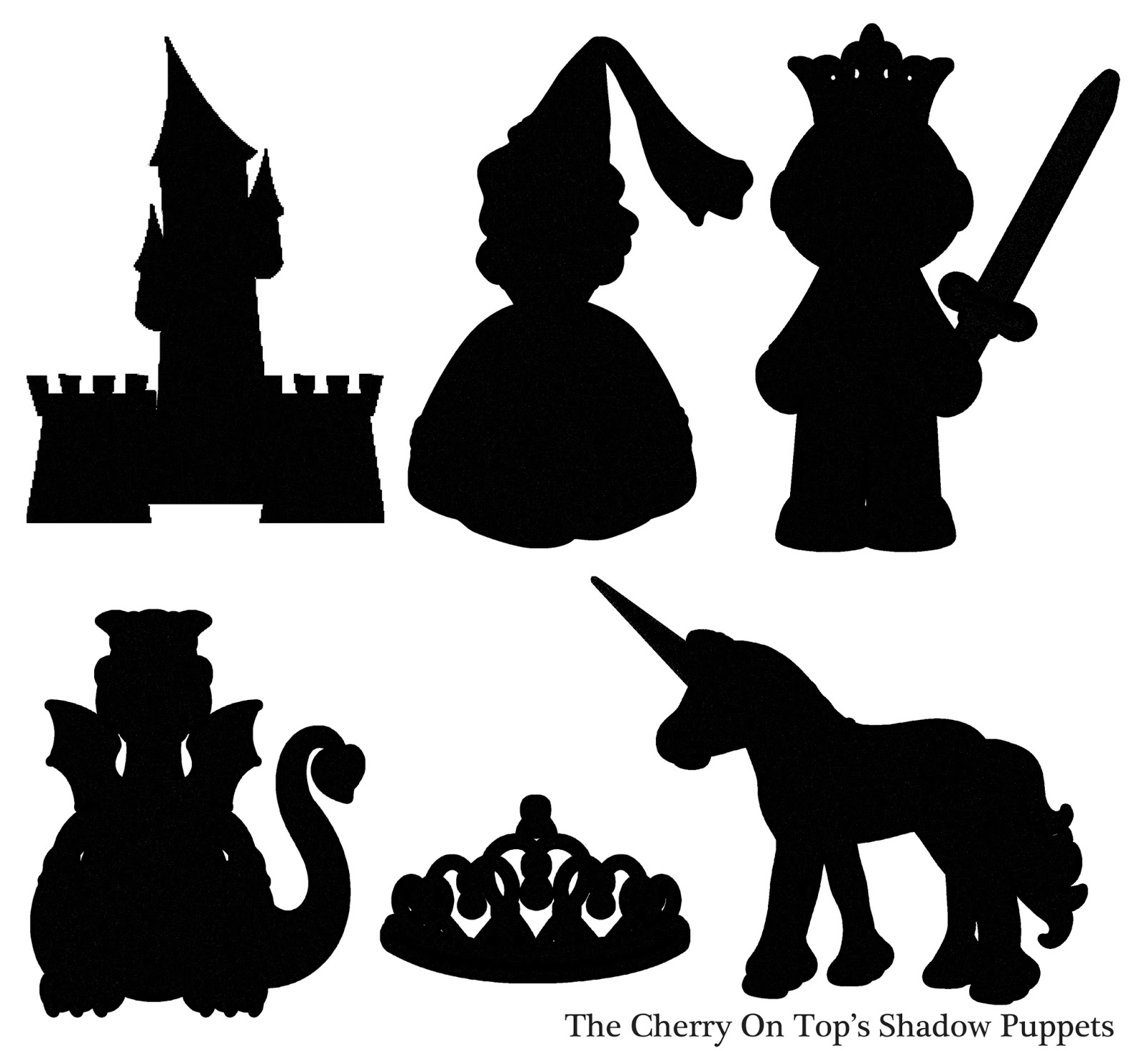 The cherry on top shadow puppets from the cherry on top for Free shadow puppet templates
