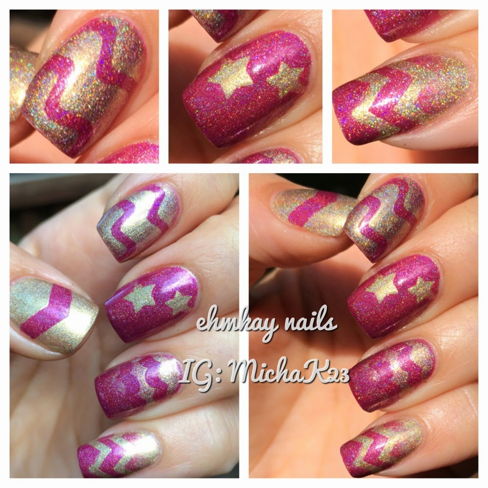 Ehmkay Nails Girly Bits Walk Like An Egyptian And