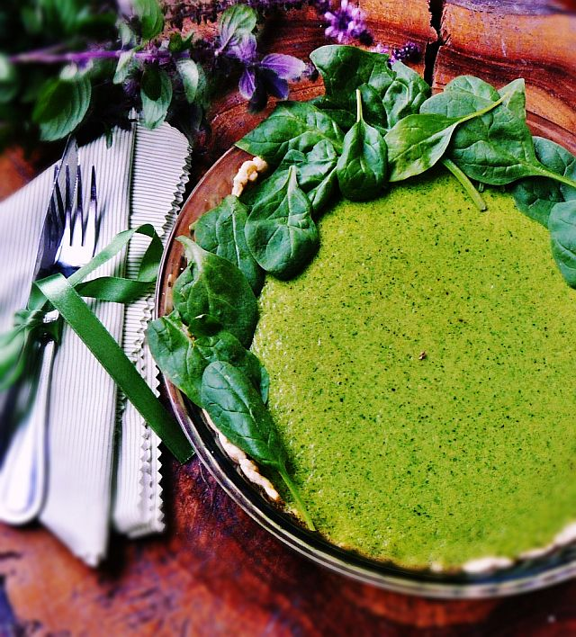 Zielona tarta szpinakowa