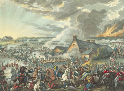 The Battle of Waterloo from The wars of Wellington, a narrative poem by Dr Syntax, illustrated by W Heath & JC Stadler (1819)