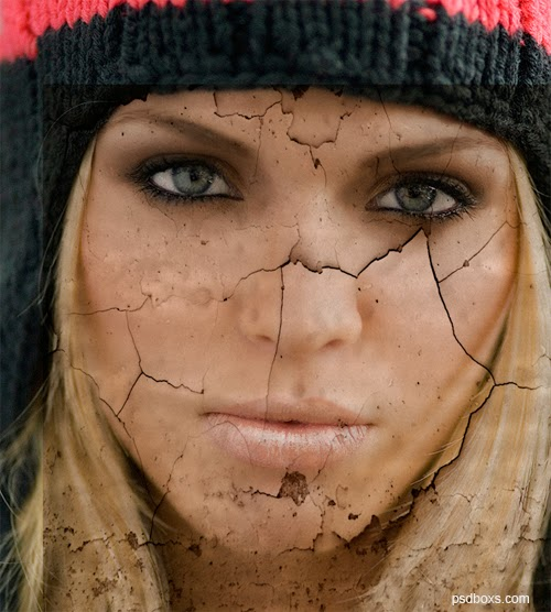 Create a Cracked Face Photo Effect In Photoshop