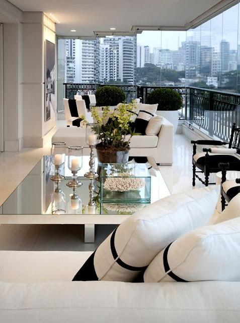 Salas y comedores modernos en negro y blanco salas y for Sala de estar blanco y negro