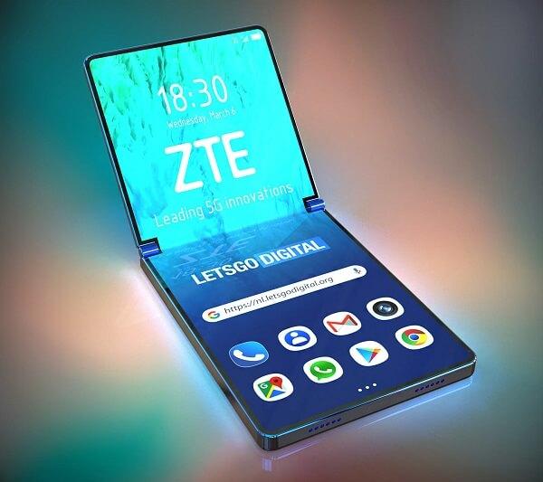 هاتف ZTE القابل للطي