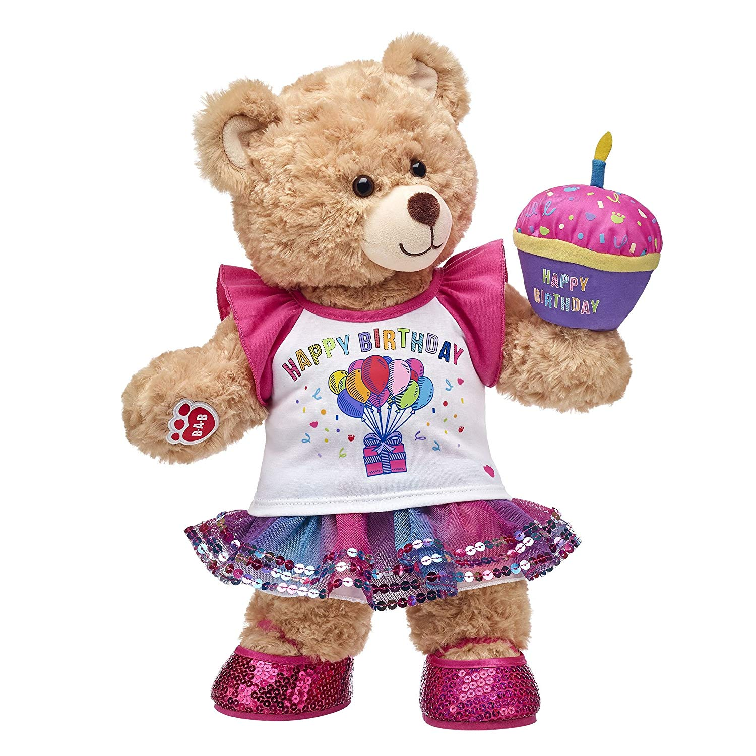 Build A Bear Workshop Birthday Girl Teddy Bear