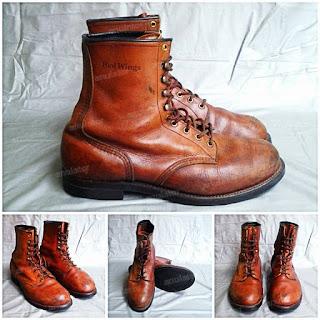 sepatu, boots, bots, vintage