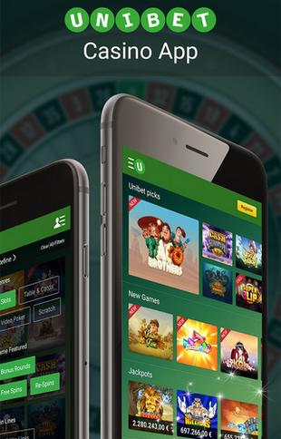 Unibet Casino App Screen