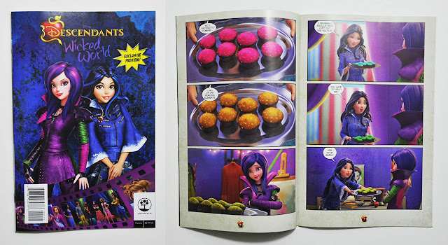 Back cover and preview for Descendants cinestory