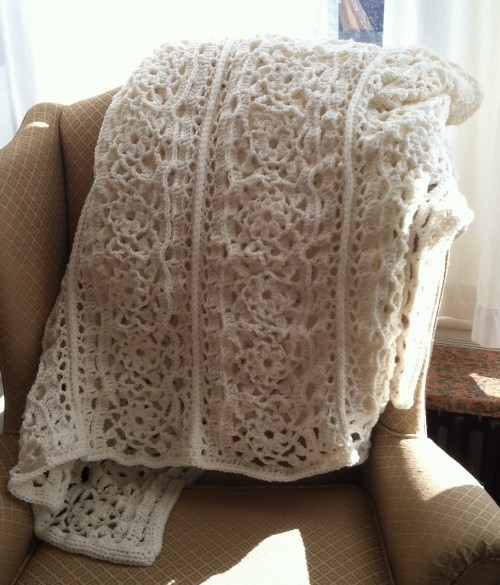 Irish Lace Blanket - Free Pattern