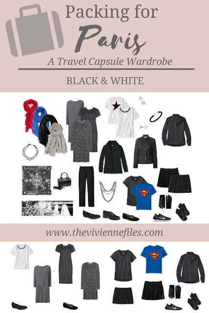How to Pack a Travel Capsule Wardrobe for Paris, France with 3 dresses