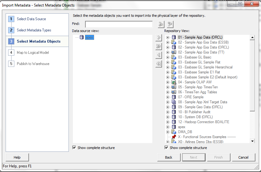 BI Direct: Import Metadata Objects into Admin Tool 11 1 1 7 1 – Issue