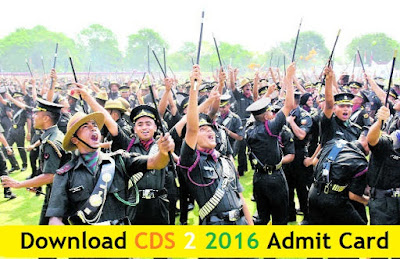 Download CDS 2 2016 Admit Card