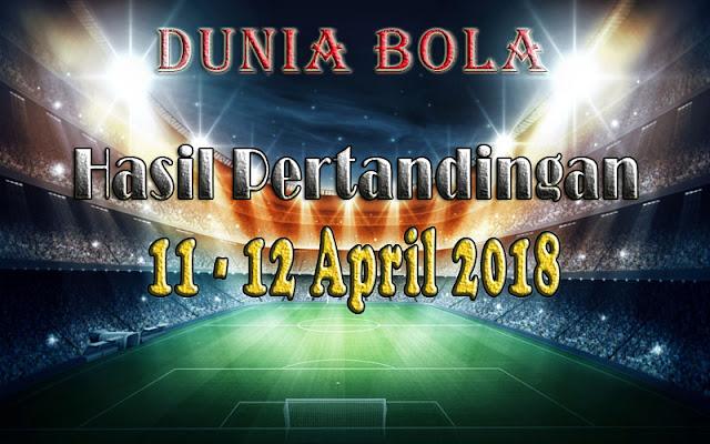 Hasil Pertandingan Sepak Bola Tanggal 11 - 12 April 2018