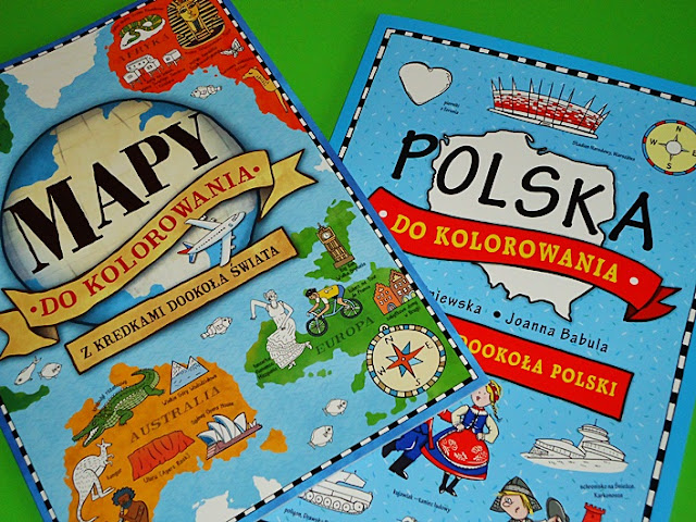 mapa świata i Polski