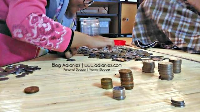 Bila Cucu & Atok Bergabung | Kira Duit Syiling Bersama