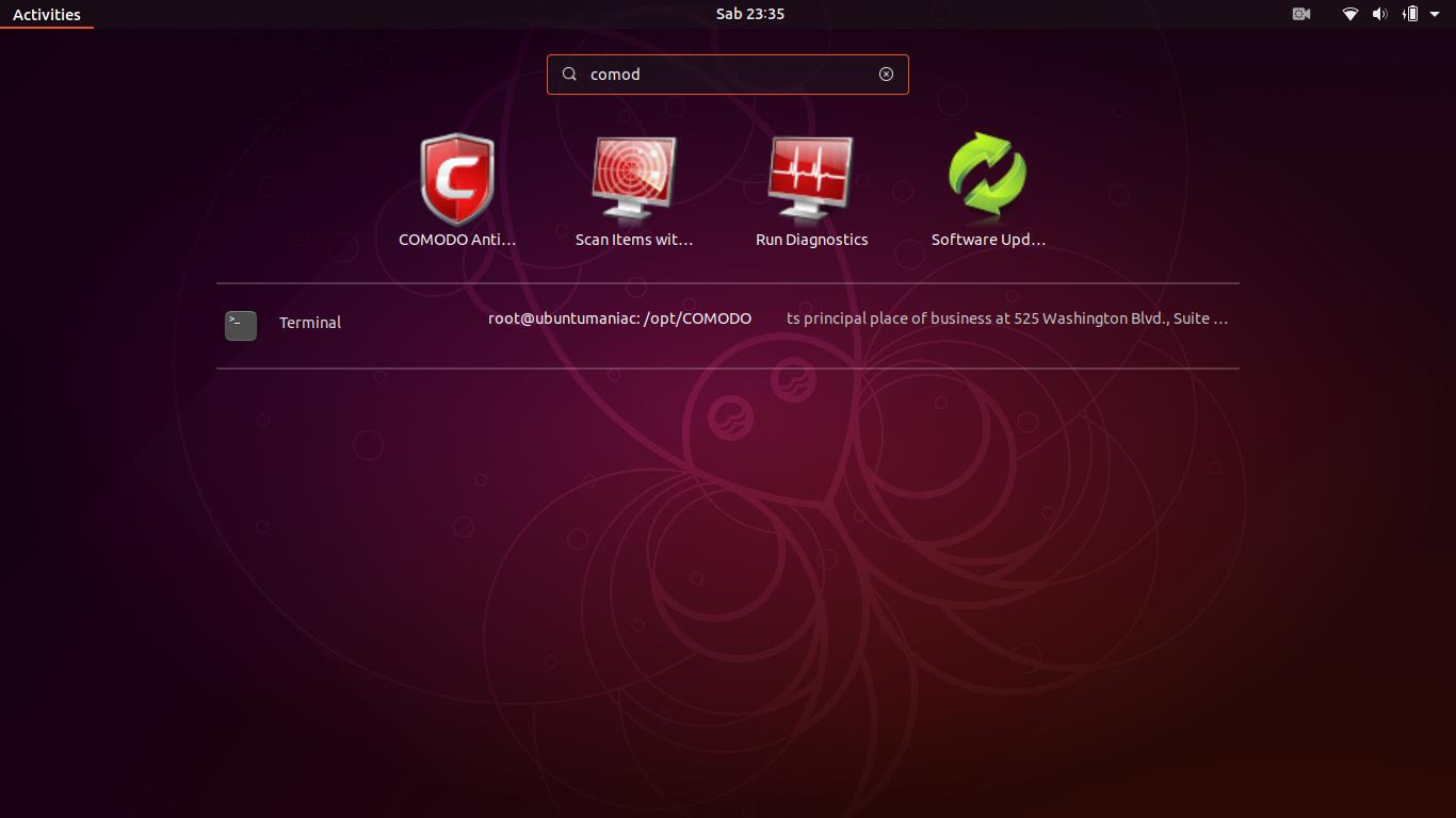 Install Comodo AntiVirus on Ubuntu (18 04 / 18 10 ) and Linux Mint