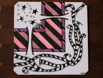 Slits challenge zentangle