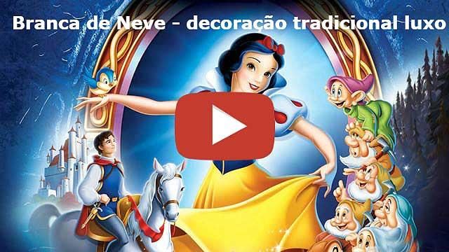 Vídeo - Decoração Branca de Neve - Mesa tradicional luxo de tecido - pano