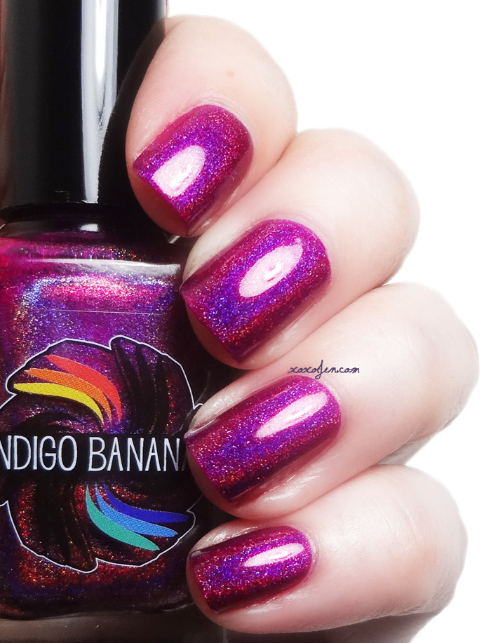 xoxoJen's swatch of Indigo Bananas Polish of Unusual Quality