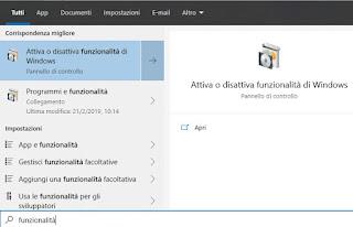 funzionalità Windows