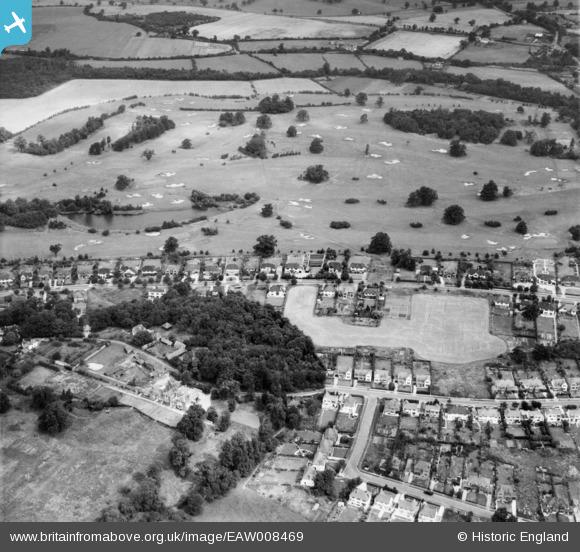 Photograph of Brookmans Avenue and Brookmans Park Golf Course, Brookmans Park, 1947
