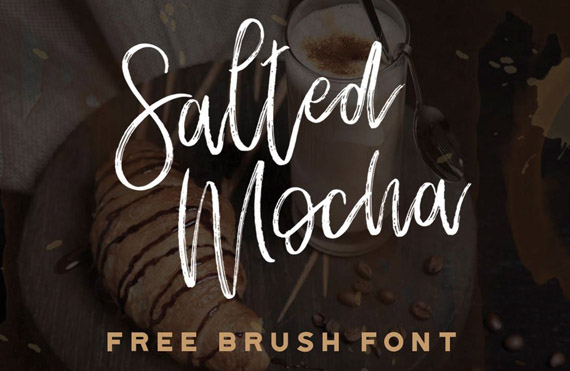 salted mocha free lettering style font