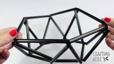 Komplet Cara Membuat Lampion dari Sedotan Plastik Beserta Gambarnya