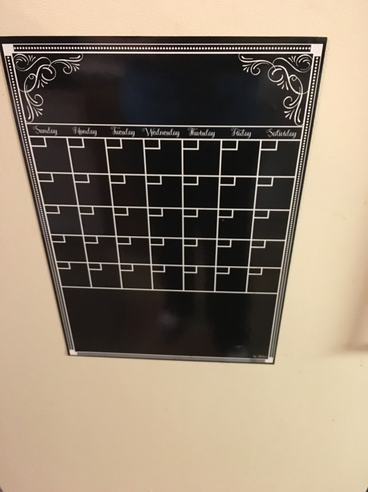Magnetic Monthly Calendar For Refrigerator : Monthly magnetic backed blackboard calendars for home and office