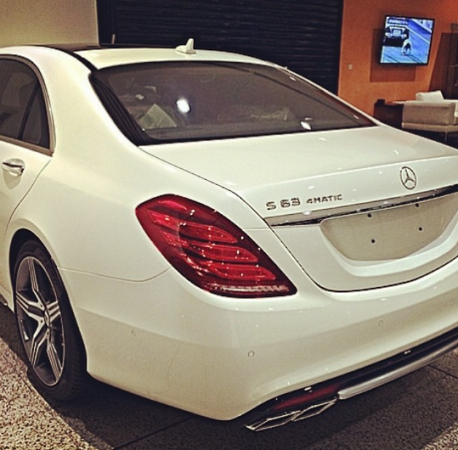 Untitled0 Davido Shows Off His New Ride, The 2014 Mercedes Benz S63 AMG [See Photo]