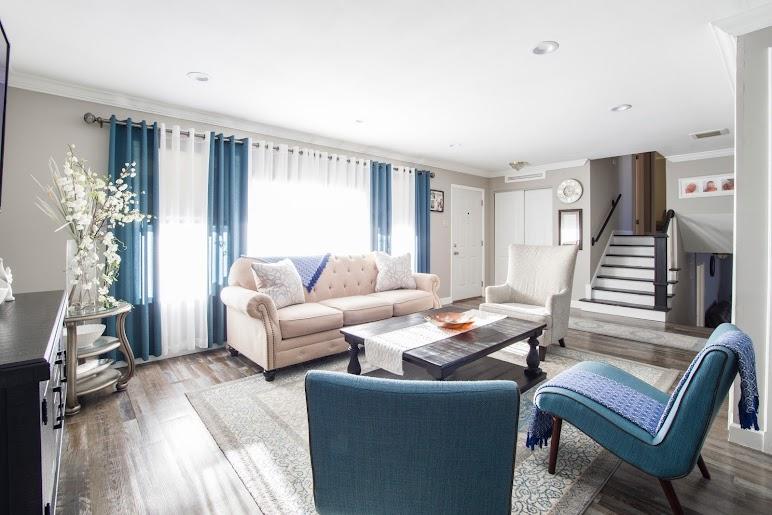 Beige Suede 3-seat Sofa