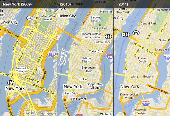 Google Lat Long: Evolving the look of Google Maps, redux