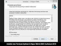 Installer dan Panduan Aplikasi E-Rapor SMA & SMK Kurikulum 2013