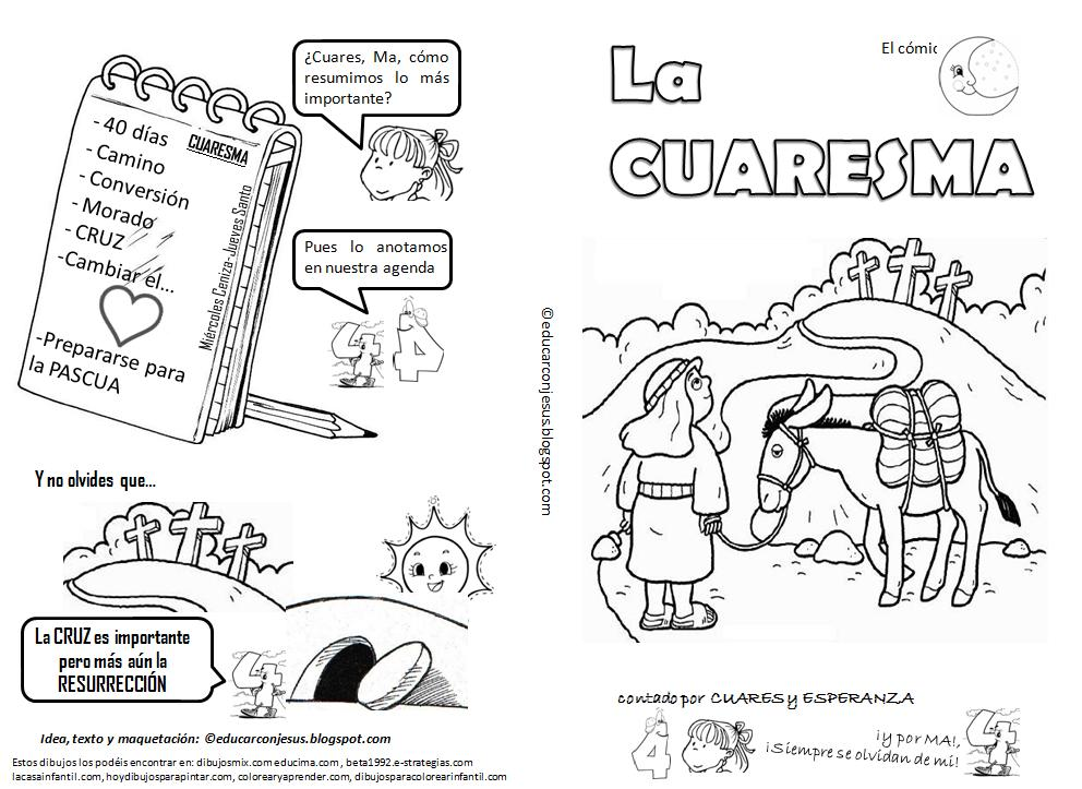 La Catequesis (El blog de Sandra): Cómic para imprimir y colorear ...