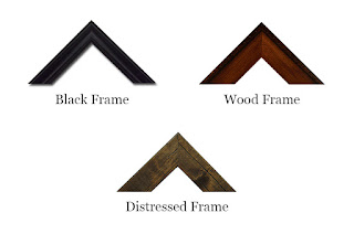 Styles of frame offered by Cramer Imaging for their fine art and landscape photography as framing options