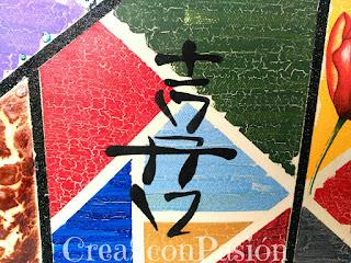 Cuadro-stencil-motivo-chino-decoupage-craquelado-foil-polvo-de-angel-multitécnicas-Crea2-con-Pasión-motivo-4-estarcido