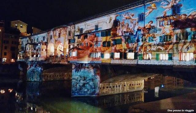 Ponte Vecchio illuminato Firenze Light Festival