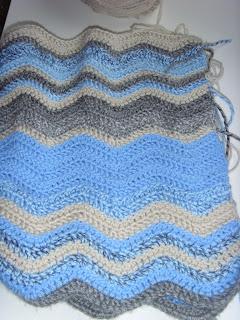 Crochet Sky Blanket in January by fabricandflowers | Sonia Spence