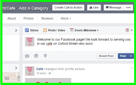 create page facebook business