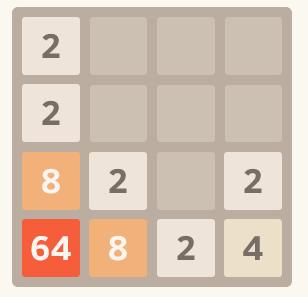 2048 highest value in the corner
