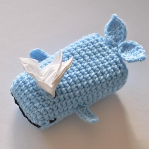 Whale Tissue Cozy - Free Crochet Pattern