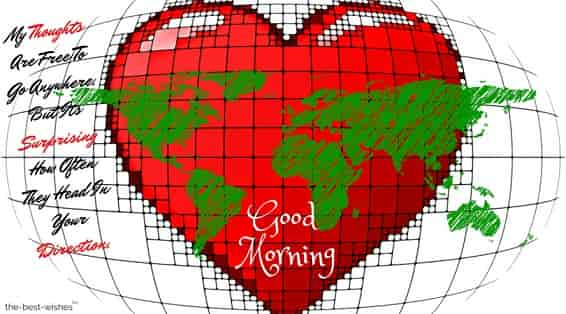 world map with heart to love